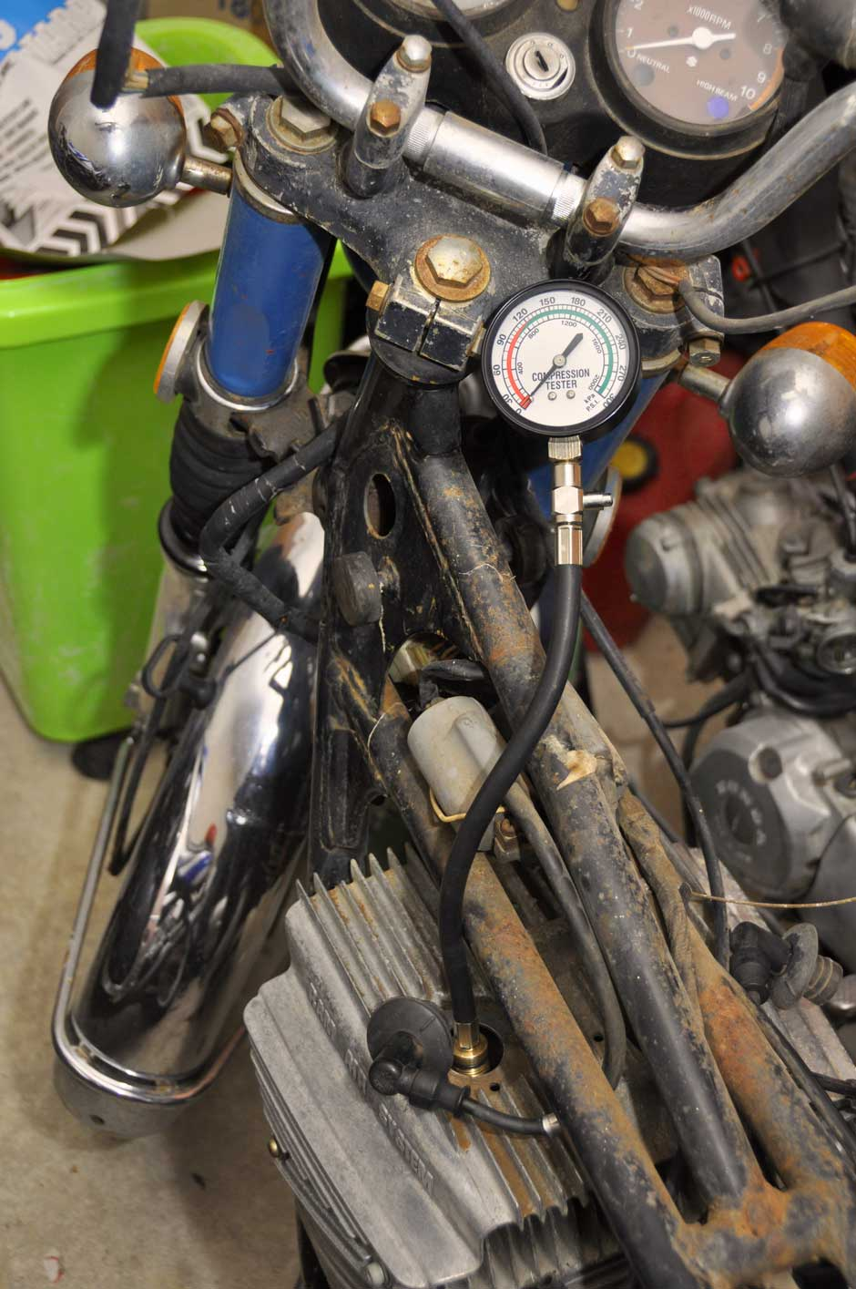 1973 Suzuki Gt250 Engine And Carburettor Work Tgr Team Ghetto Racing Speedometer Assy Spin 125 Dsc 1797