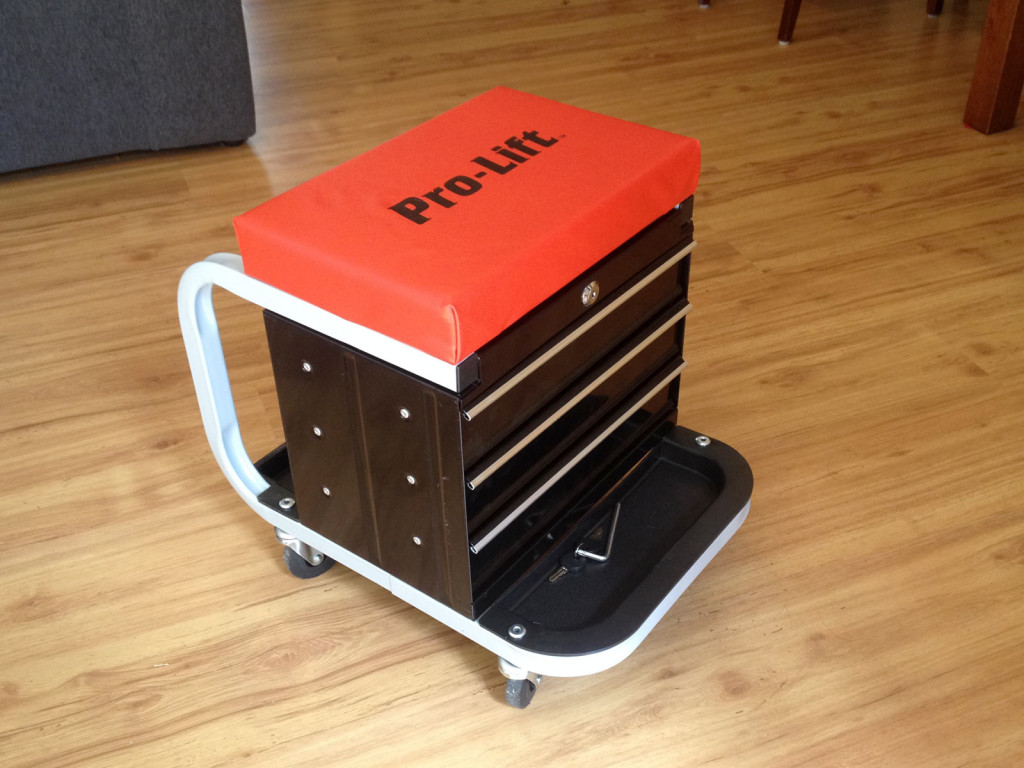 Review Pro Lift Rolling Creeper Stool Toolbox Tgr