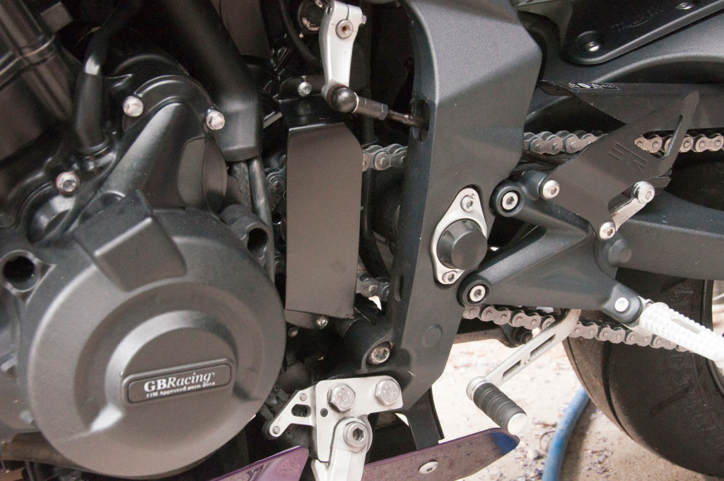 2012 Street Triple: front sprocket cover, TGR made (1)