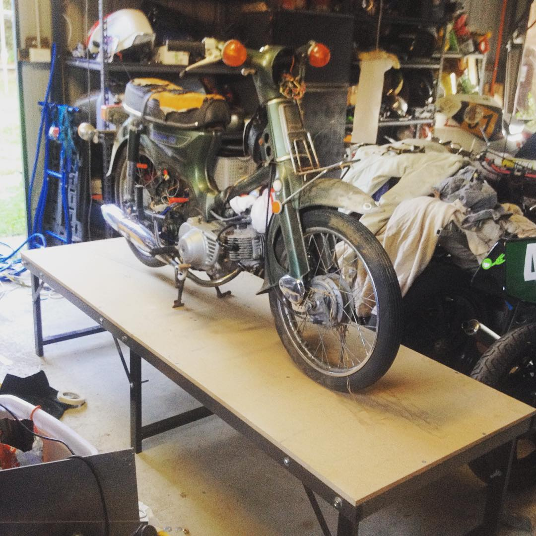 Awe Inspiring Foldable Motorbike Work Bench Tgr Team Ghetto Racing Dailytribune Chair Design For Home Dailytribuneorg